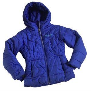 Columbia Winter Coat Girls Purple with Hood 6/6X